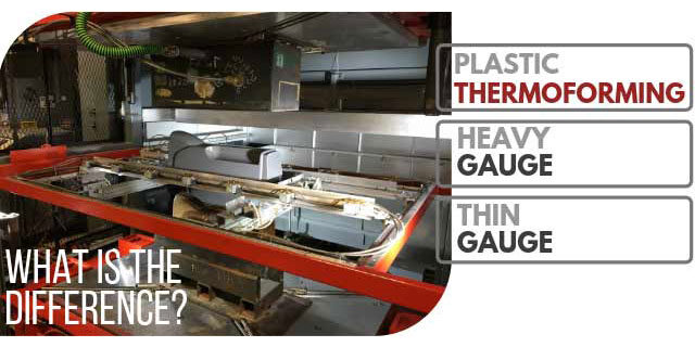 Heavy vs thin gauge plastic thermoforming – what's the difference?