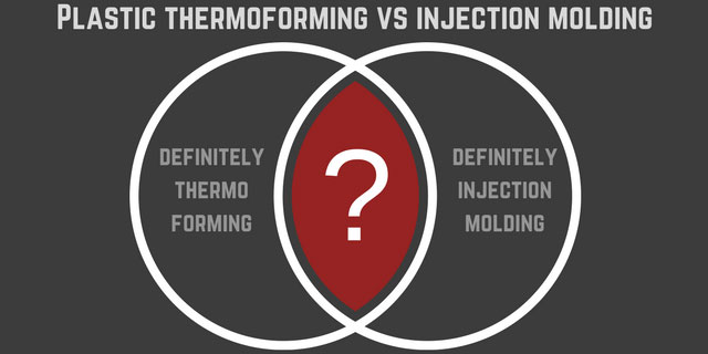Deciding Between Plastic Thermoforming and Injection Molding –  The Choice is Not Always Obvious